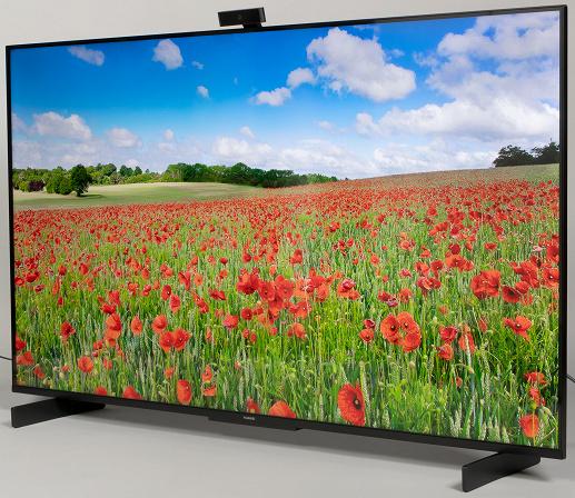 """Умный экран Huawei Vision S (HD55KAN9A): VA-матрица 55"""", разрешение 4К, камера с магнитным креплением, HarmonyOS и виртуальные ассистенты Салют"""