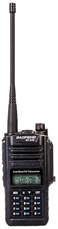 Портативная двухдиапазонная влагозащищенная VHF/UHF-радиостанция Baofeng BF-A58