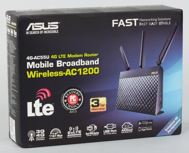 Упаковка Asus 4G-AC55U