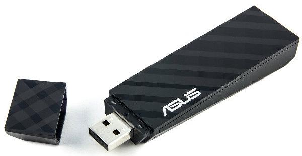 Внешний вид беспроводного адаптера ASUS USB-AC53