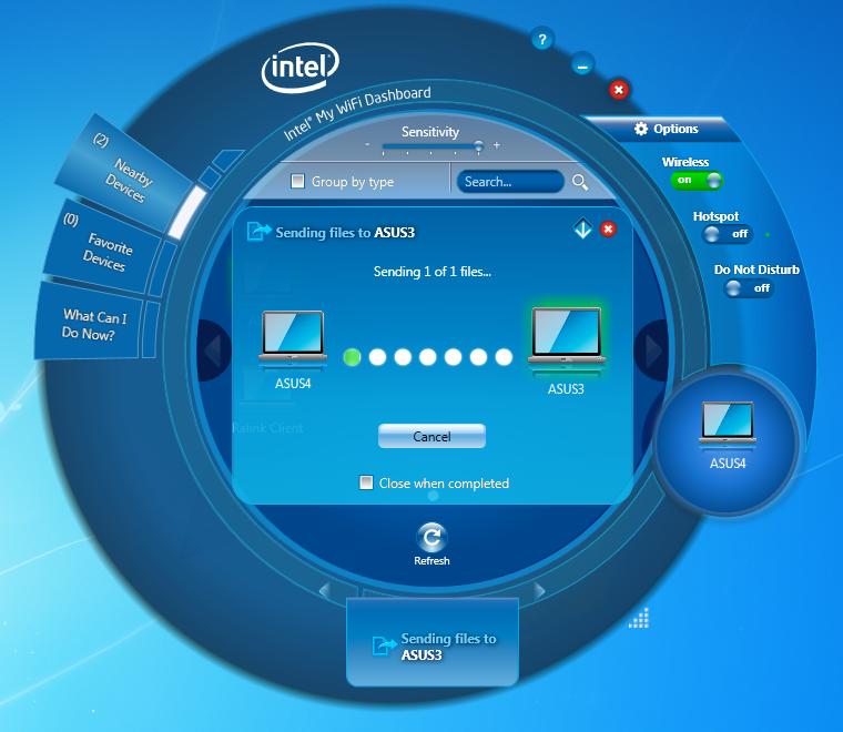 intel my wifi dashboard windows 7