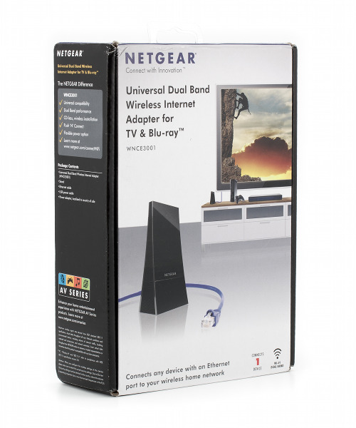 Упаковка адаптера Netgear WNCE3001