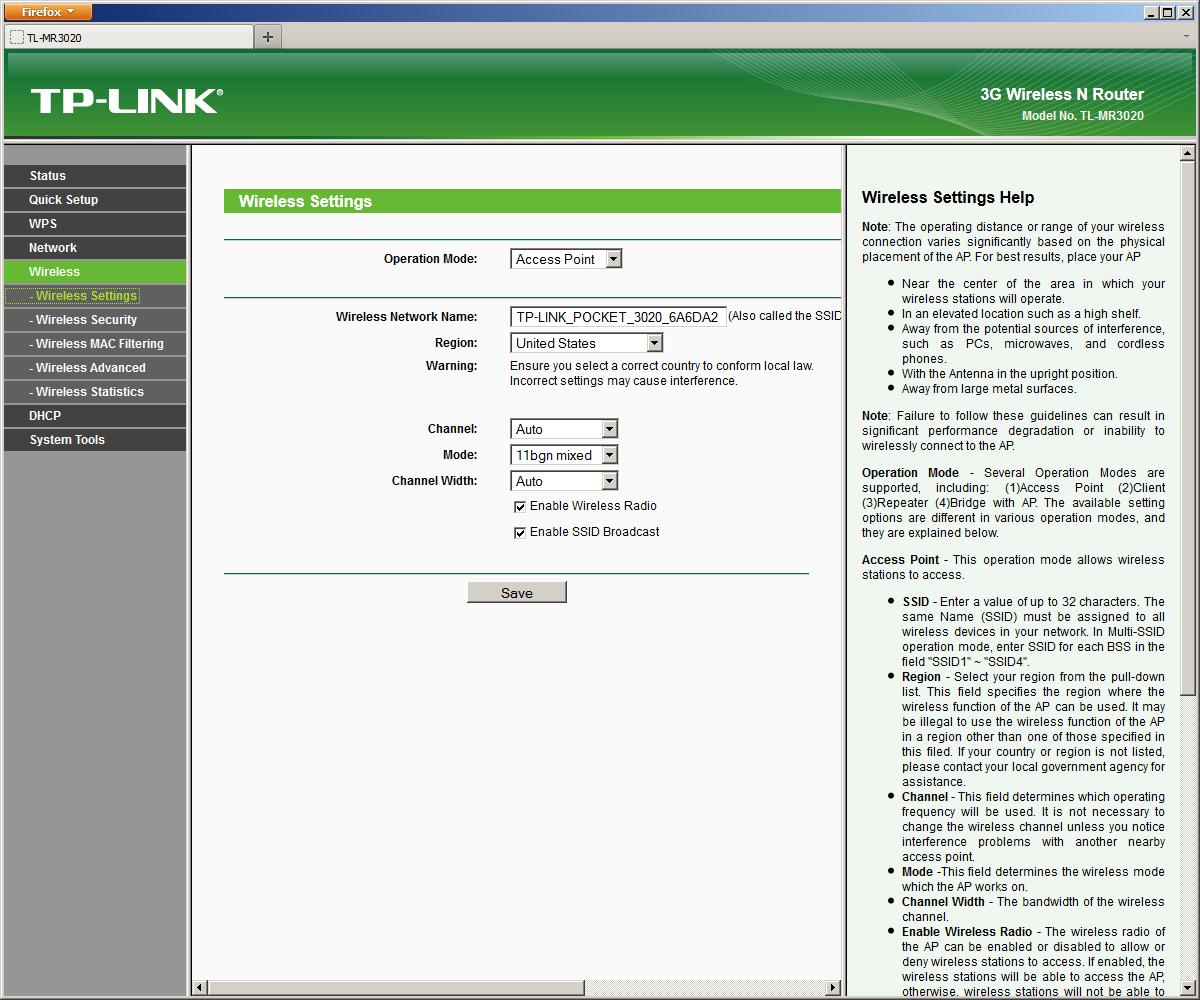 Компактный роутер с поддержкой 3G-модемов TP-LINK TL-MR3020