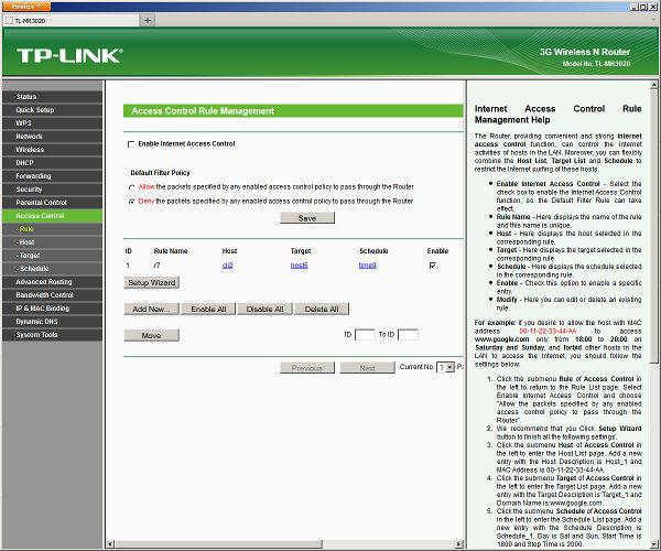 Настройка TP-LINK TL-WR3020