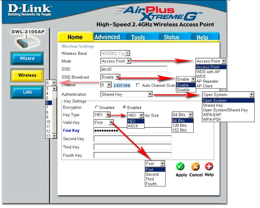 Как настроить dwl 2100ap Инструкции. Настройка точки доступа d-link dwl.