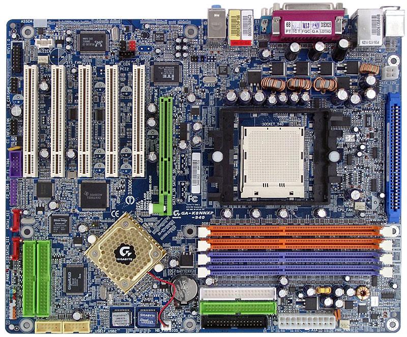 Gigabyte K8NNXP-940 motherboard on NVIDIA nForce3 Pro 150