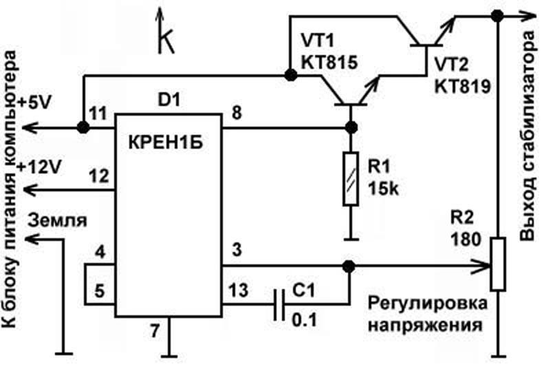 Схема автоматизации котла дквр