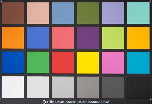 Мишень X-Rite ColorChecker (24 поля)