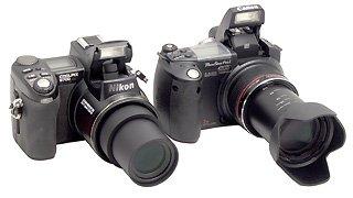 Причем, если Sony и Canon сделали внешне совсем новые камеры: Sony DCS-F828 и Canon Pro1, то Minolta и.