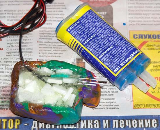 Изготовление муляжа аккумулятора