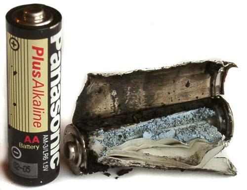 Электрический ток.  Устройство гальванического элемента.  Фото 20.