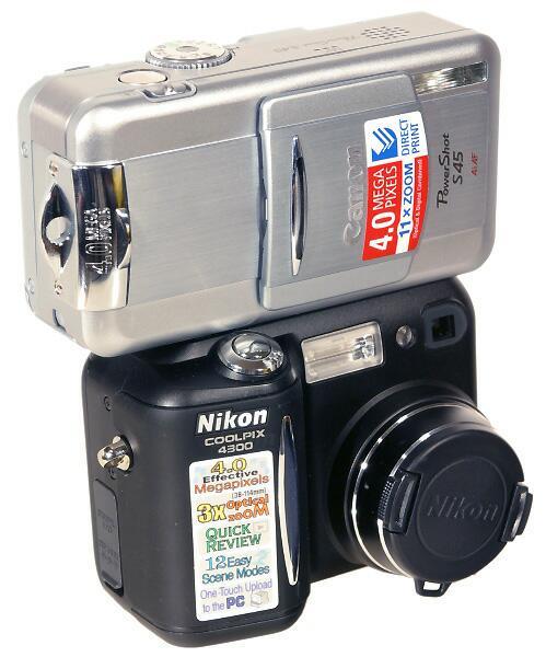 Canon PowerShot S45 è  Nikon COOLPIX 4300