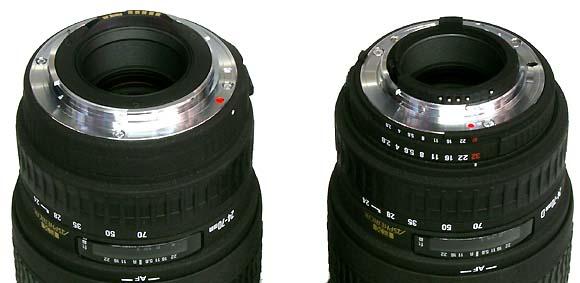 nikon d100 canon eos d60 and sigma lens 24 70 mm f 2 8 ex dg rh ixbtlabs com Lens Aperture Explained canon lens manual aperture control