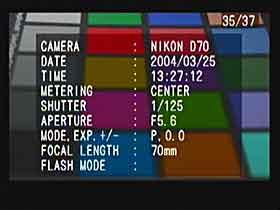 меню Nikon D70