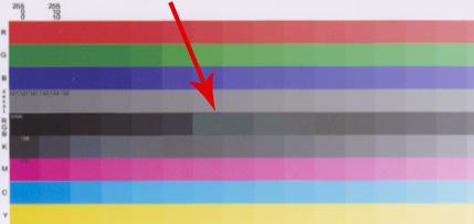 Отпечаток мишени с профилем для бумаги типа InkJet