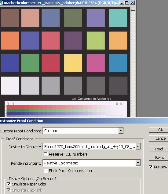 Экранные цветопробы в Photoshop