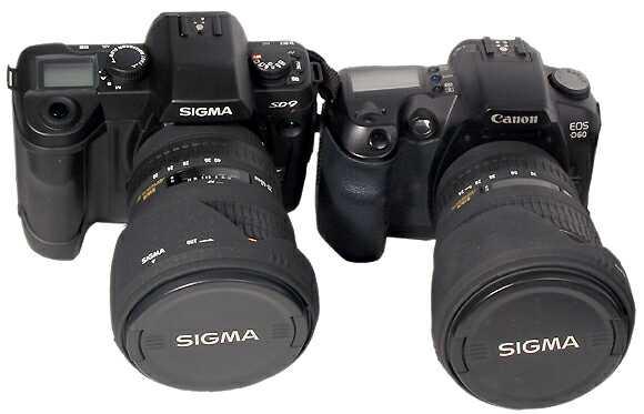 Sigma SD9 è Canon EOS D60