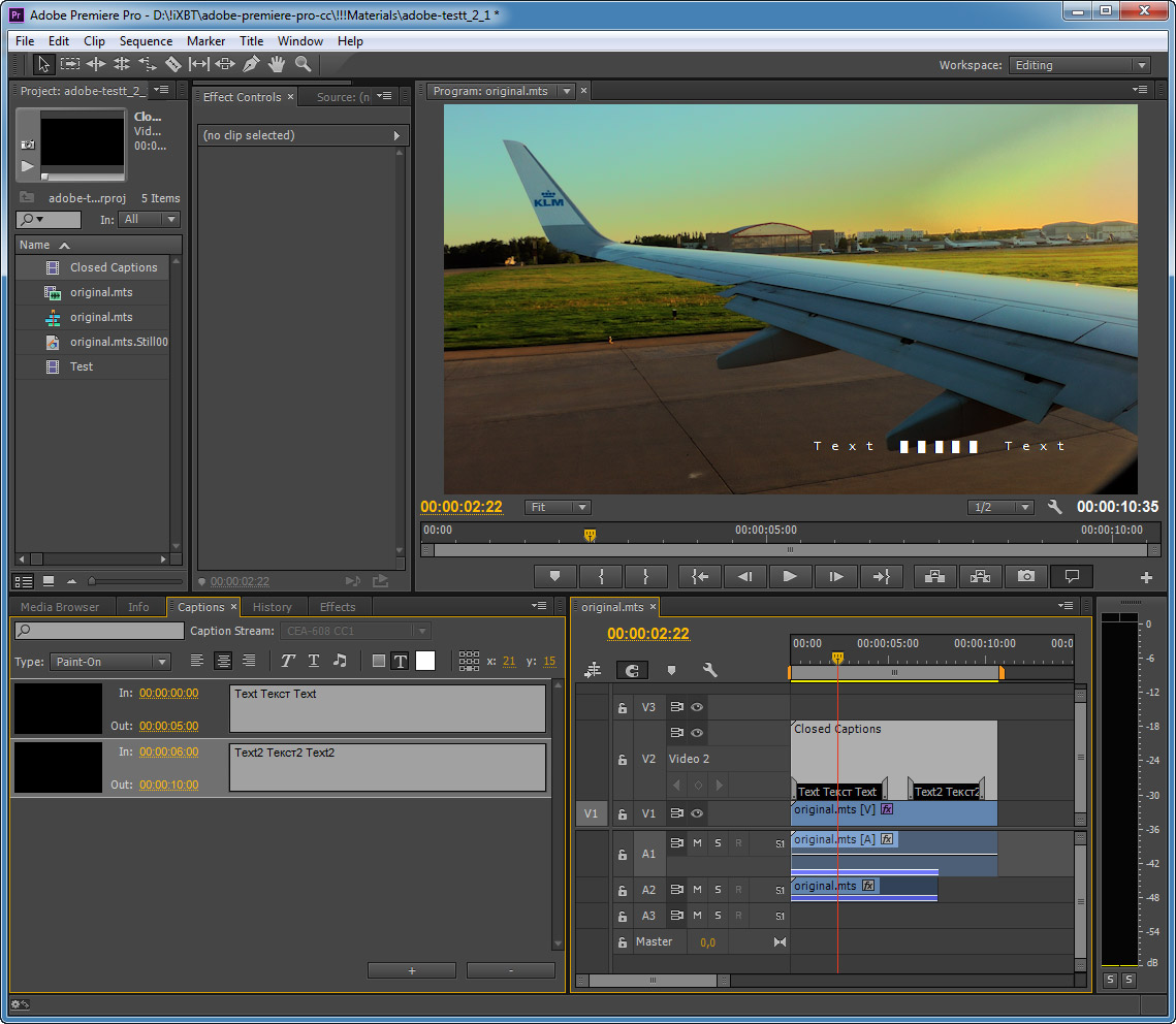 adobe premier pro how to add captions