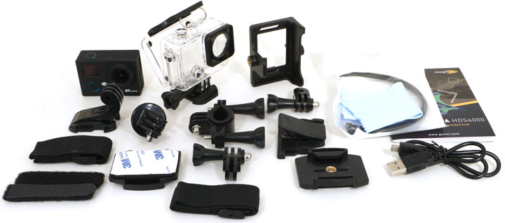 Экшн-камера Gmini MagicEye HDS4000 Silver Мото/Вело/Авто/Спорт водонепроницаемый FullHD 1080p LCD экран 1.5