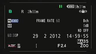 Профессиональный камкордер Panasonic AG-AC160, интерфейс