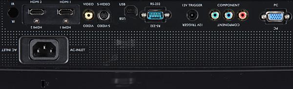 Для проводного подключения к источникам видеосигнала проектор оборудован аналоговыми видеовходами трех типов