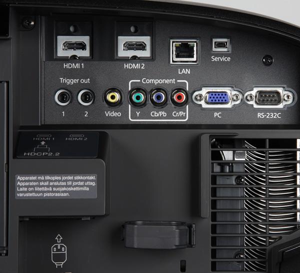 Проектор Epson EH-LS10000, интерфейсы