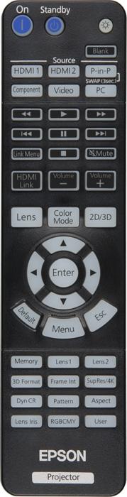 Проектор Epson EH-LS10000, пульт ДУ