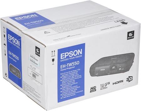 Проектор Epson EH-TW550, коробка