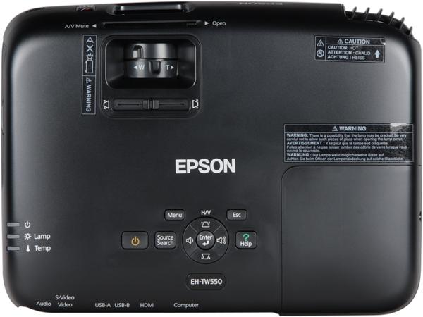 Проектор Epson EH-TW550, верхняя панель