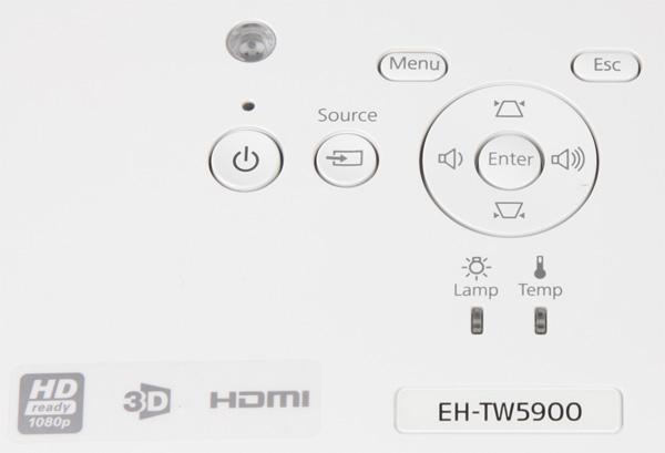 Проектор Epson EH-TW5900, контрольная панель