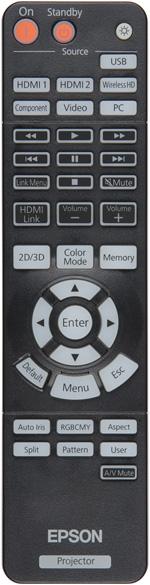 Проектор Epson EH-TW5900, пульт ДУ