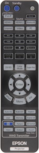 Проектор Epson EH-TW9200, пульт ДУ
