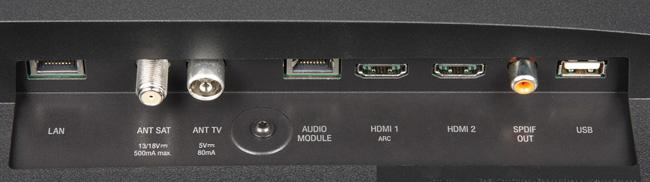 ЖК-телевизор Loewe One 40, интерфейсы