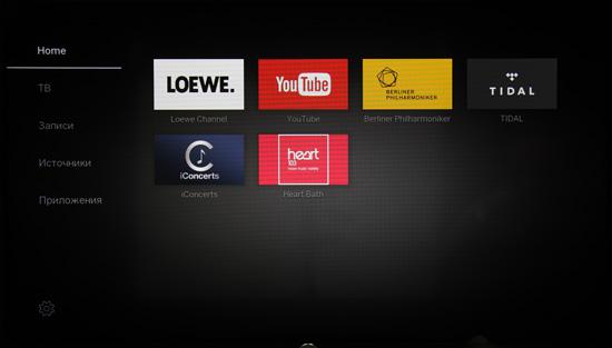 ЖК-телевизор Loewe One 40. Интерфейс