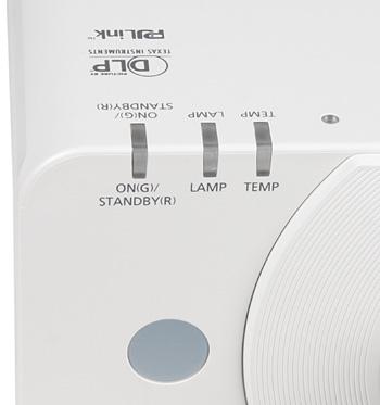 Проектор Panasonic PT-DZ570E, индикаторы состояния