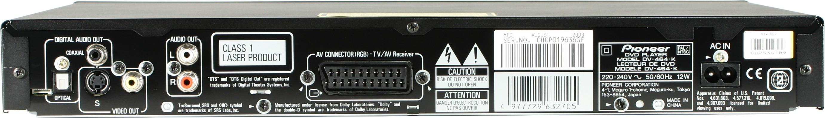Распиновка Rgb Pioneer