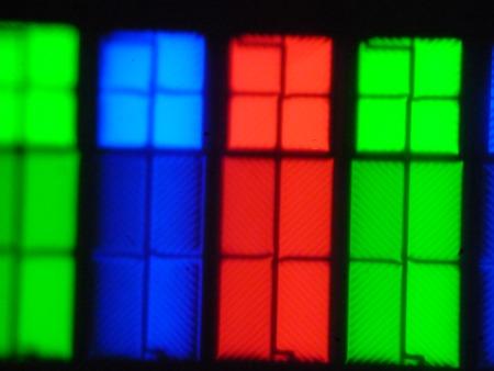 QLED-телевизор Samsung QE65Q9FAMUXRU, Микрофотографии матрицы