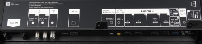 OLED-телевизор Sony Bravia KD-55A1, интерфейсы
