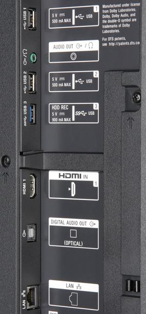 ЖК-телевизор Sony KD-55XD9305, интерфейсы