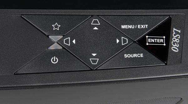 DLP-проектор ViewSonic LS830, контрольная панель