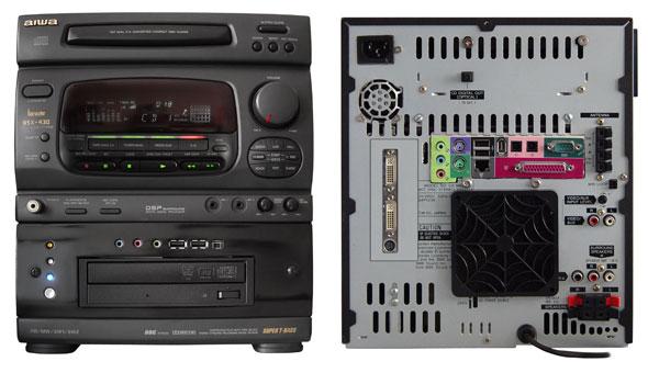 Так же можно сделать из старого музыкально центра и старого компьютера мультимедийную станцию для прослушивания...