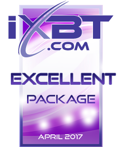 Excellent Package - iXBT.com Editors Award