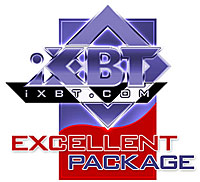 Excellent Package - iXBT.com Editors' Award