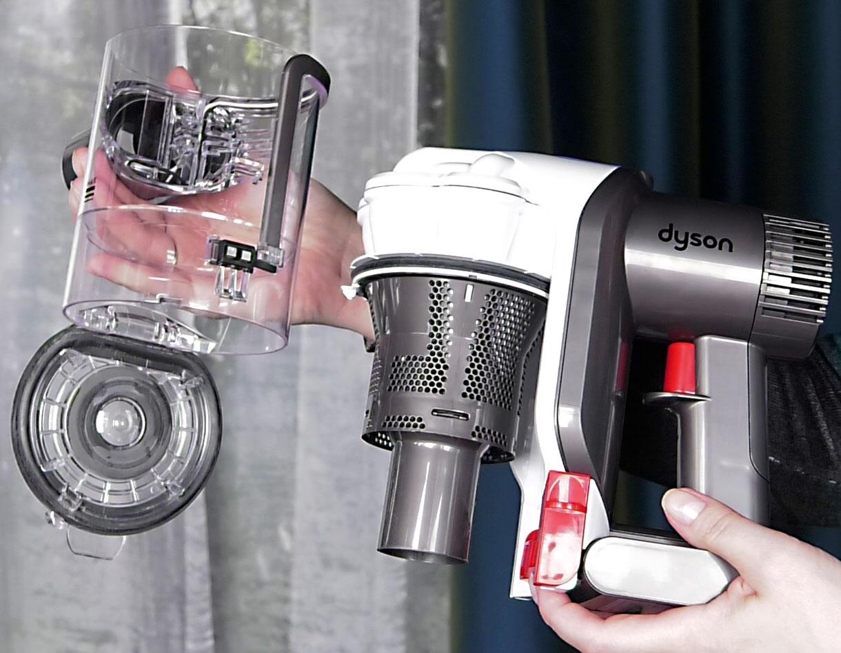 Как разобрать пылесборник дайсон пылесос аккумуляторный dyson dc45 plus купить
