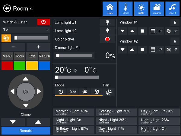 Пример интерфейса iRidium