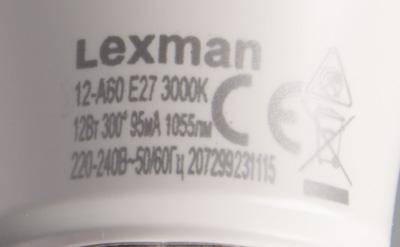 Lexman 12-A60 E27/30 R