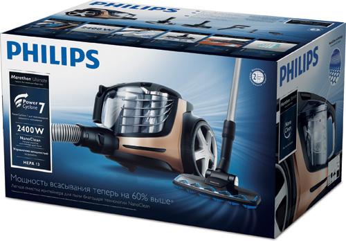 Пылесос Philips PowerPro Ultimate (FC9912). Коробка.