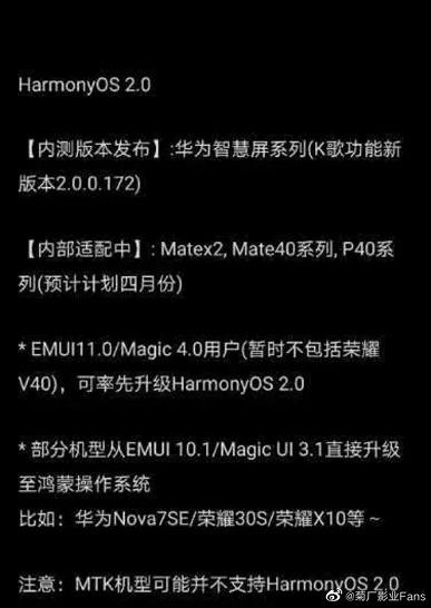 HarmonyOS 2.0 вместо EMUI 11. Смартфоны Huawei P40, Mate 40 и Mate X2 получат заменитель Android уже в апреле