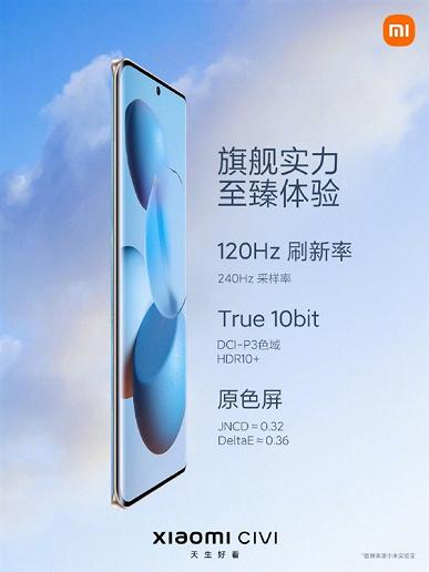 Представлен Xiaomi Civi  самый тонкий и лёгкий смартфон Xiaomi с крошечным подбородком и достойным аккумулятором