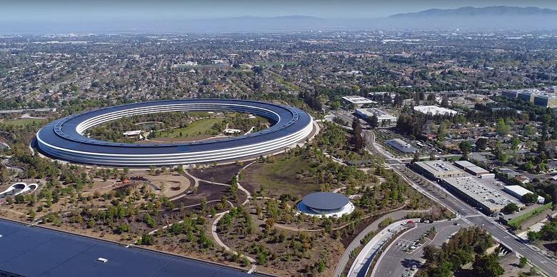 Apple начала вводить запрет на воздушную съемку своей новой штаб-квартиры